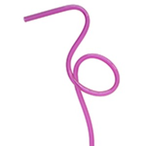 Pink Plastic Flamingo Straws - pack of 10