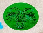 Envelope Seals with Embossed Pinecones-Green - Pack of 25