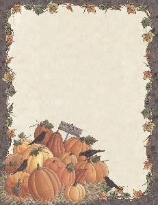 FALL PAPER:  Harvest Time Pumpkins