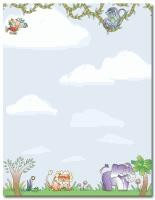 ANIMAL PAPER:  Jungle Animals Letterhead