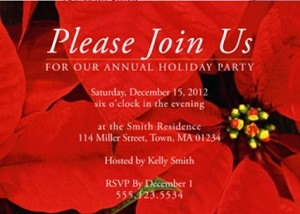 Custom printed Holiday Invitations