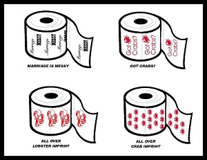Stock Design Printed Event Toilet Paper