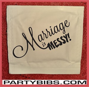 Marriage is Messy Design 2 Wet Wipe Packets